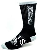 SS179 For Bare Feet NBA ブルックリン・ネッツ Brooklyn Nets クルーソックス 靴下 黒灰白 【メール便対応】