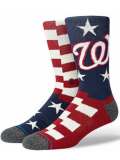 SS212 Stance スタンス MLB メジャーリーグ ワシントン・ナショナルズ Washington Nationals クルーソックス 紺白赤【メール便対応】