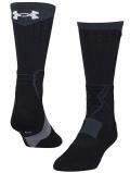 BK354 Under Armour Basketball Crew Socks アンダーアーマー クルーソックス ミドル丈 靴下 23~26.5cm アントラシート黒白 【メール便対応】