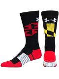 SS124 【メール便対応】 アンダーアーマー Unrivaled バスケットボール用靴下 Under Armour Crew Socks 黒赤黄色白