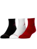 YK621 キッズ Jordan Jumpman Socks ジョーダン クォーターソックス 3足セット 子供用 靴下 黒白赤 【20-23cm】 【メール便対応】