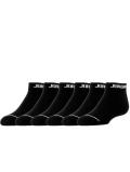 YK531 【メール便対応】 キッズ Jordan No Show Socks ジョーダン ローカットソックス 6足セット 黒【18-20cm】
