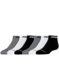 YK532 【メール便対応】 キッズ Jordan No Show Socks ジョーダン ローカットソックス 6足セット 黒白灰【18-20cm】