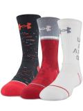 BK306 【メール便対応】 アンダーアーマー Phenom クルーソックス 3足セット Crew Socks 赤白黒灰 Mサイズ