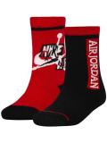 YK659 キッズ 子供用 Jordan Jumpman Classics Crew Socks ジョーダン クルーソックス 2足セット 靴下 赤黒 20cm-23cm  【メール便対応】