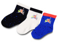 BA567 キッズ 子供用 Jordan Jumpman Classic Socks ジョーダン ソックス 靴下 3足セット 黒白青【9~13cm】 【メール便対応】