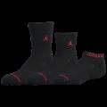 YK635 キッズ Jordan Socks ジョーダン ソックス 3足セット 子供用 靴下 黒赤 【20cm~23cm】 【メール便対応】