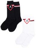 YK601 【メール便対応】 キッズ ジョーダン  クルーソックス 2足セット Jordan Crew Socks 黒白赤 【18-20cm】
