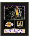 HO751 オフィシャル NBA コービー・ブライアント レイカーズ 引退試合 記念額 Los Angeles Lakers Final Game Kobe Bryant Plaque プラーク