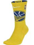 "BK326 【メール便対応】Nike NBA ""ゴールデンステイト・ウォリアーズ"" Warriors Elite Crew Socks ナイキ バスケットボール クルーソックス Mサイズ"