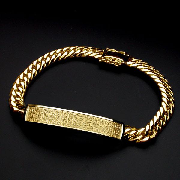 般若心経ブレス・SLIM・K18金ゴールド・210mm