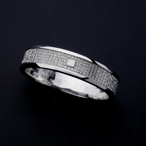 般若心経リング・ミクロ・Pt900プラチナ(7号〜15号) 指輪 リング メンズ レディース サイズ Pt900 プラチナ