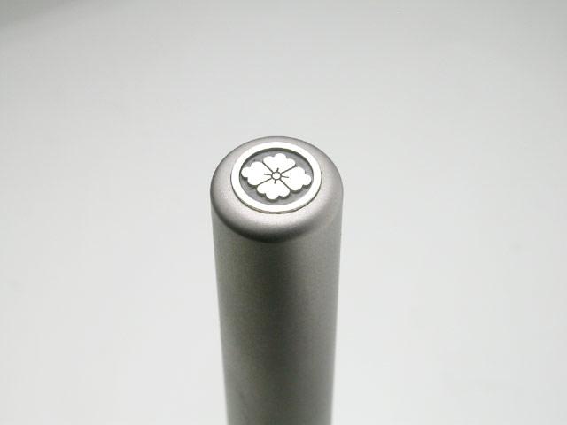 家紋入りチタン印鑑(個人認印・銀行印・12mm)シルバーエンブレム・竹コース