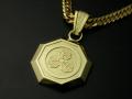 家紋ペンダント・八角・大・K18金ゴールド・竹コース