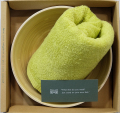 Bamboo Bowl「ねんりん」&フェイスバスタオル(ピスタチオグリーン)