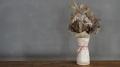 粉引結び花瓶