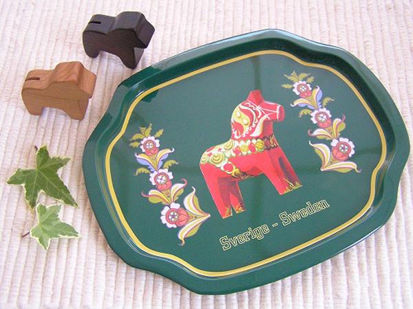 ブリキのダーラナホーストレイ ミニ ブラック/グリーン/パープル