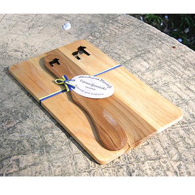 ダーラナホースの木製プレート ナイフ付