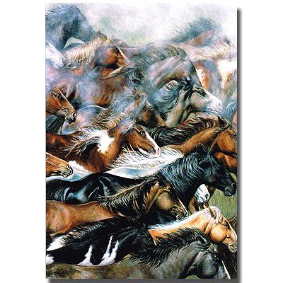 バースデーカード「Stampede of Wishes」希望の馬の群れ
