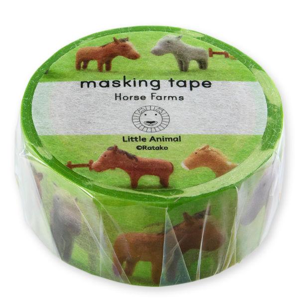 リトルアニマル マスキングテープ「Horse farms」