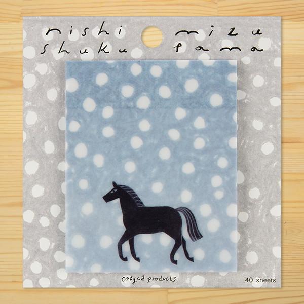 西淑(nishi shuku) トレーシングペーパーふせん「mizutama」