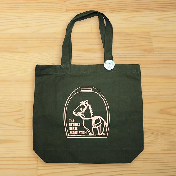 <引退馬協会>グラちゃん・オリジナル トートバッグ ダークグリーン