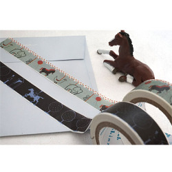 Shinzi Katoh 馬柄マスキングテープ「Merry go round/Guardsam & rope」