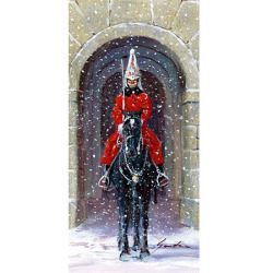 英国乗馬協会クリスマスカードー雪の騎馬警官