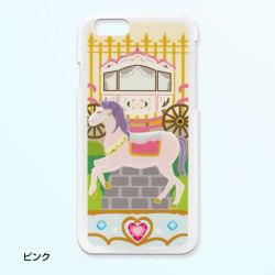 <iphone6用>落ちないデコ!メリーゴーランド スマホカバー 3種類 ピンク