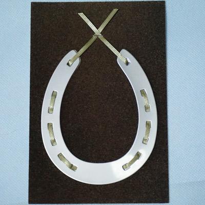 【送料無料】幸せを呼ぶhappy horseshoe card ステンレスシルバー