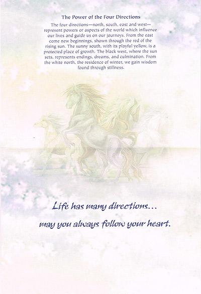 グリーティングカード「Direction of Horses Inspiring」馬の導く方へ