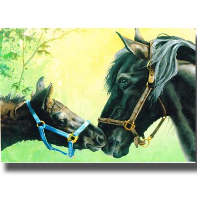 ポストカード「Magic Moments」馬のご挨拶