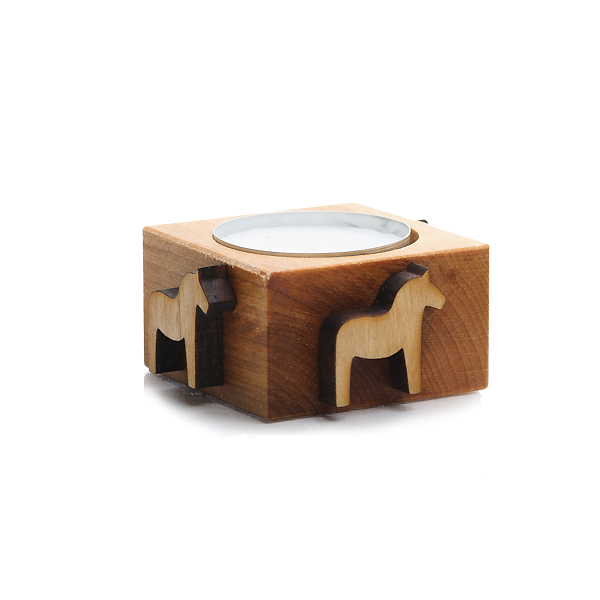 木製キャンドルホルダー「ダーラヘスト」