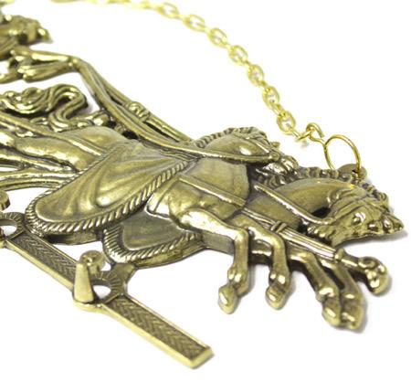 アンティーク天使と馬フック