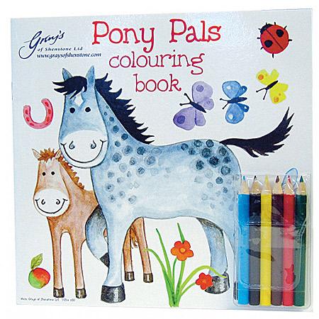 PONY PALS 可愛い馬イラストのぬりえ<色鉛筆付>