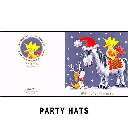 Party Hat & Christmas Carol?クリスマスカード