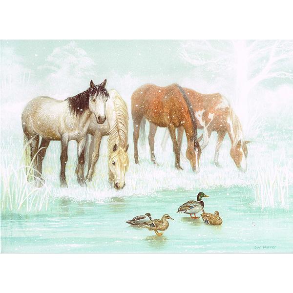 イギリスRDAのクリスマスカード「凍った池」