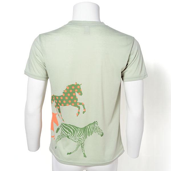 ユニセックス 馬柄Tシャツ