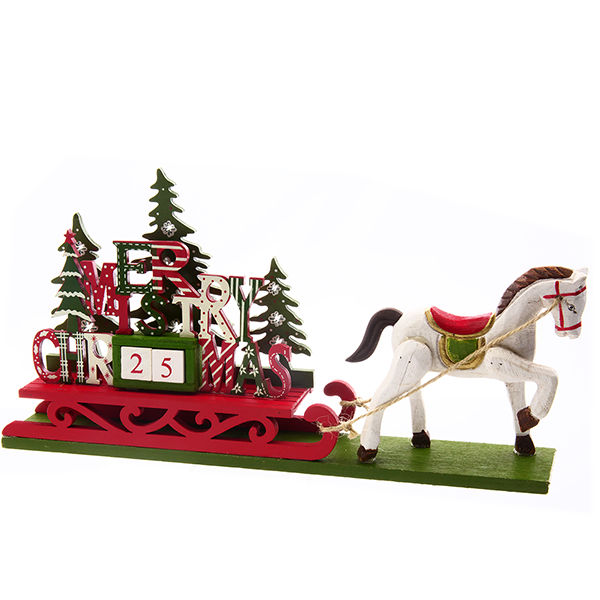 ソリのお馬さん★クリスマス・カウントダウン・カレンダー