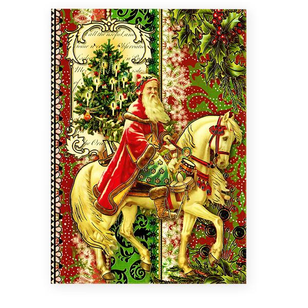 クリスマスカード <サンタ×馬>