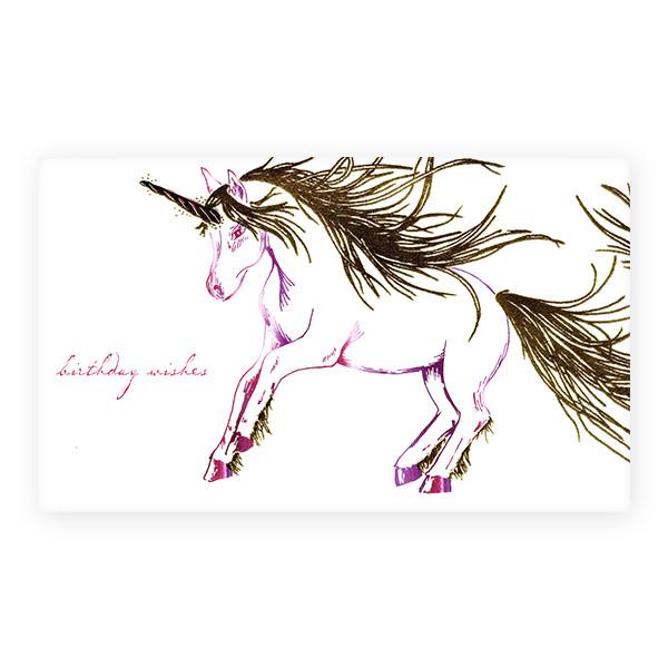 活版印刷カード menageric greetings バースデー 馬