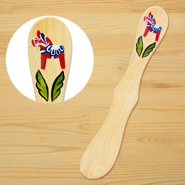 ヘムスロイド社 手描きダーラナホースの木製バターナイフ