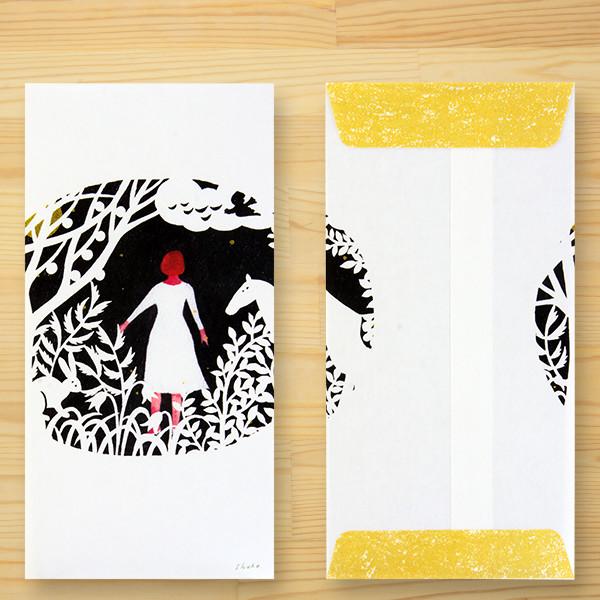 西淑(nishi shuku) 美濃和紙のし袋「mori no hanashi」