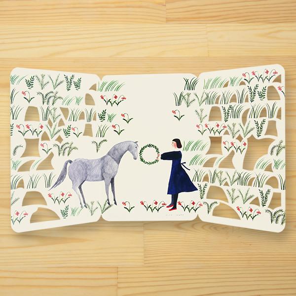 西淑(nishi shuku) 金箔カード「hanabatake」