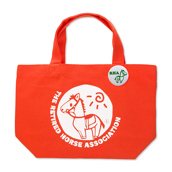 <引退馬協会>オリジナル トートバッグSS  グラちゃん(オレンジ)