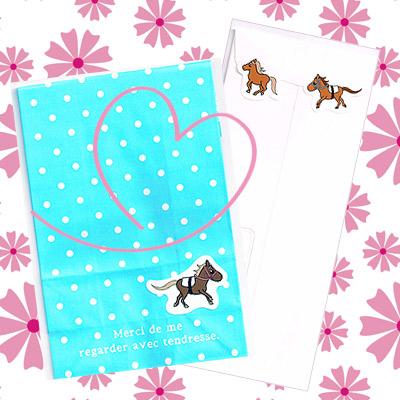 可愛い馬盛り合わせ!Happy Horseシール