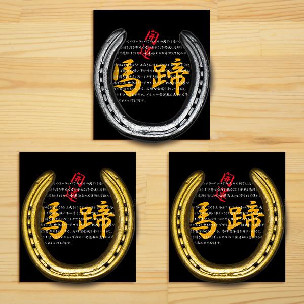 <愛馬会>開運馬蹄 蹄鉄プレート 金/銀(うまぴろん付)【プール金付】