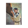 「Friendship」少女と馬のマグネット