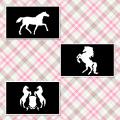 馬のステンシルシート 3種