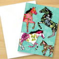 ロンドンのグリーティングカード「Patterned Horses」